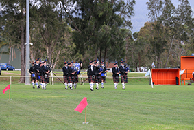 Burwood Pipe Band at 2017 Games Day